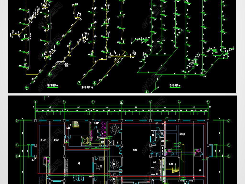 办公楼CAD工作描述平面设计图展览通风设计师采暖建筑图片