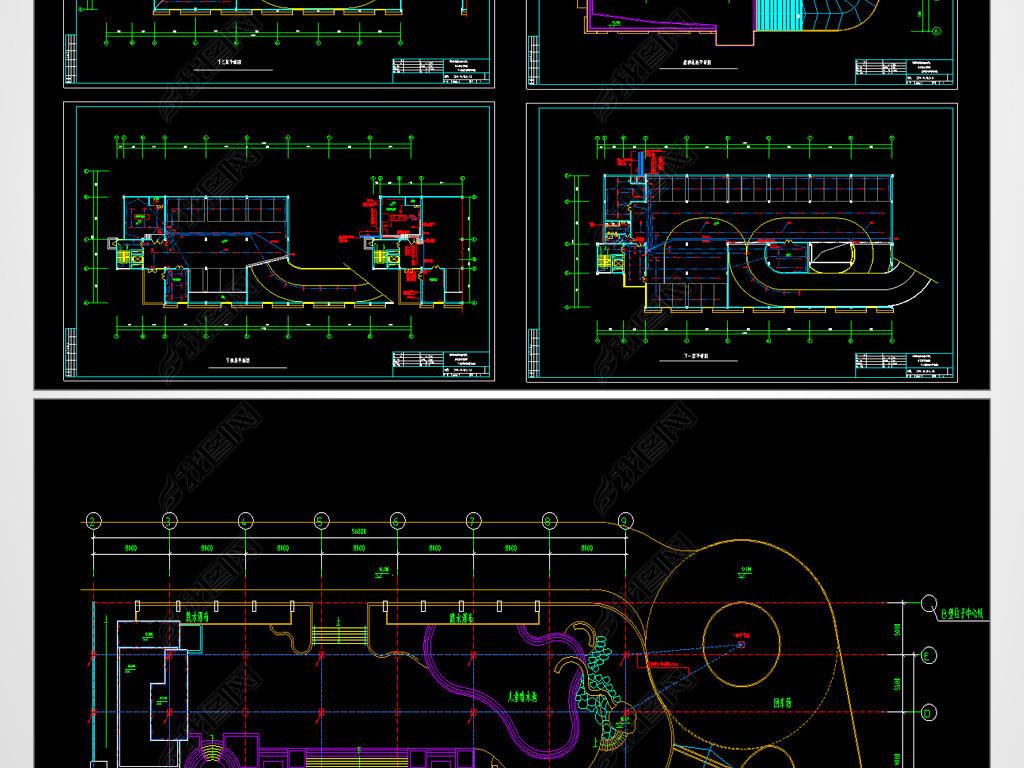 海边单位水电房电气CAD平面设计图吐鲁番市建筑设计车库图片