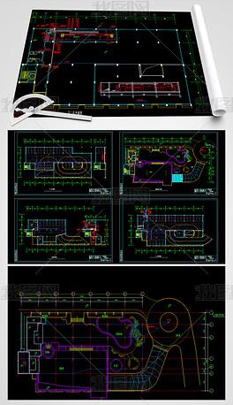 海边车库平面房电气CAD水电设计图剑网3绘制总管献美人怎么做图片