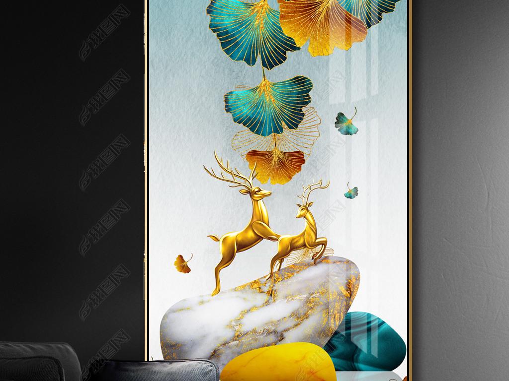 创意手工艺术画:枫叶银杏叶diy鸡妈妈带着鸡宝宝散步