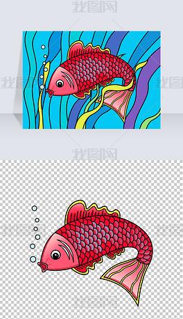 卡通鱼图片素材专题模板 卡通鱼图片素材图片素材下载 我图网