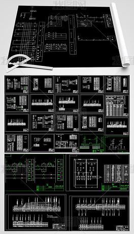 水电站CAD平面设计图ui重要设计不重图片
