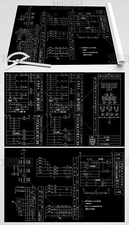 小水电站机电CAD平面设计图word里边怎么绘制流程图图片