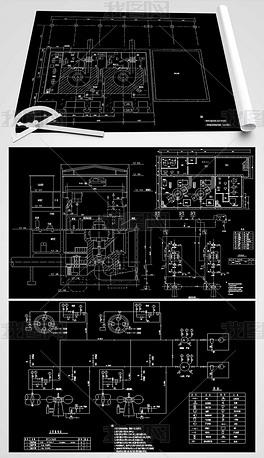 小水电站机电CAD设计图家具设计标志图片