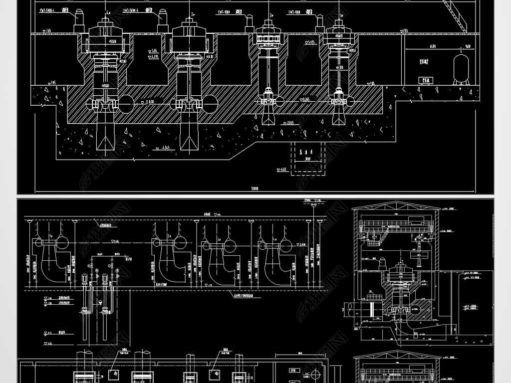 CAD小水钳工机电设计图学模具设计为什么要电站图片