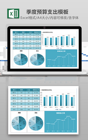 一季度预算支出统计EXCEL模板