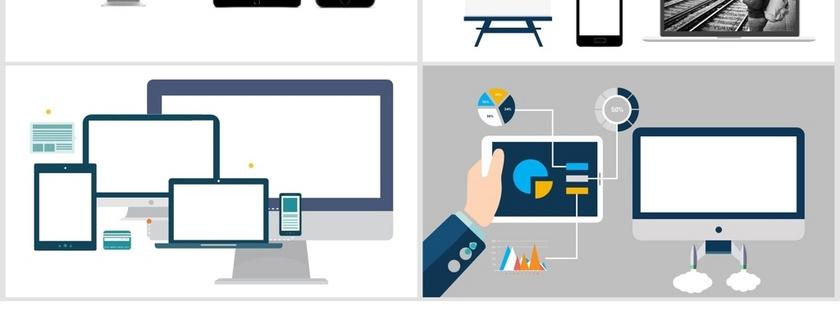 笔记本Pad手机白框图片ppt素材