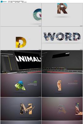 2017年宣传文字遮罩图片展示AE模板