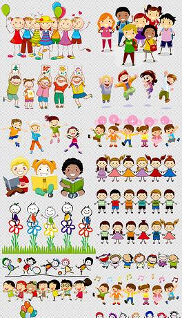 卡通儿童小孩学生幼儿开学季图片素材