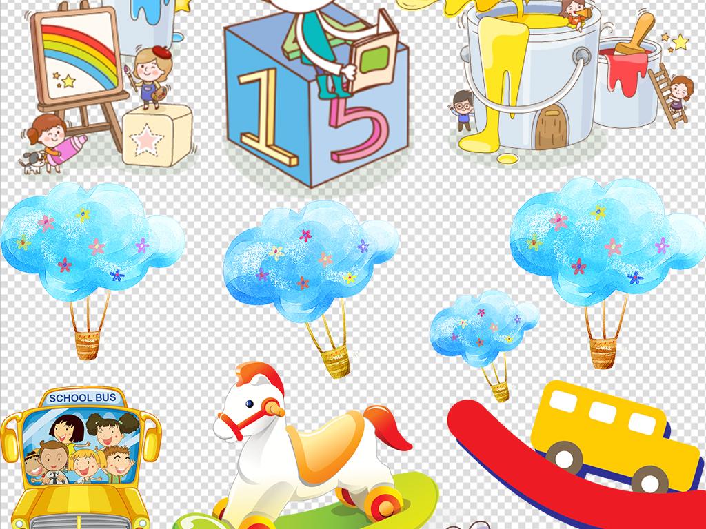 平面|广告设计 节日设计 卡通小人卡通风景装饰素材ppt素材.