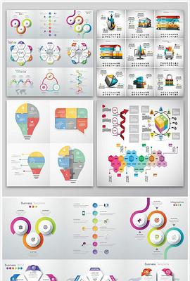 图表几何图形PPT信息统计素材