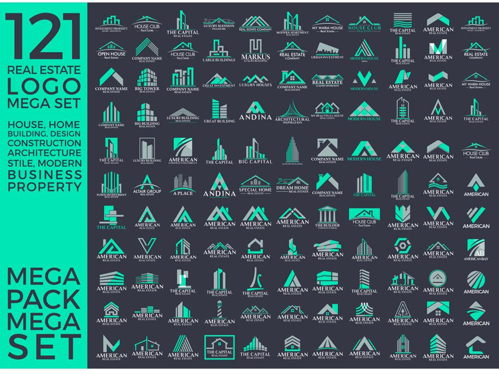 房地产标志logo矢量设计集合图片素材_高清eps模板(9.