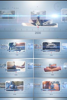 企业发展历程标尺时间线图文动画AE模板