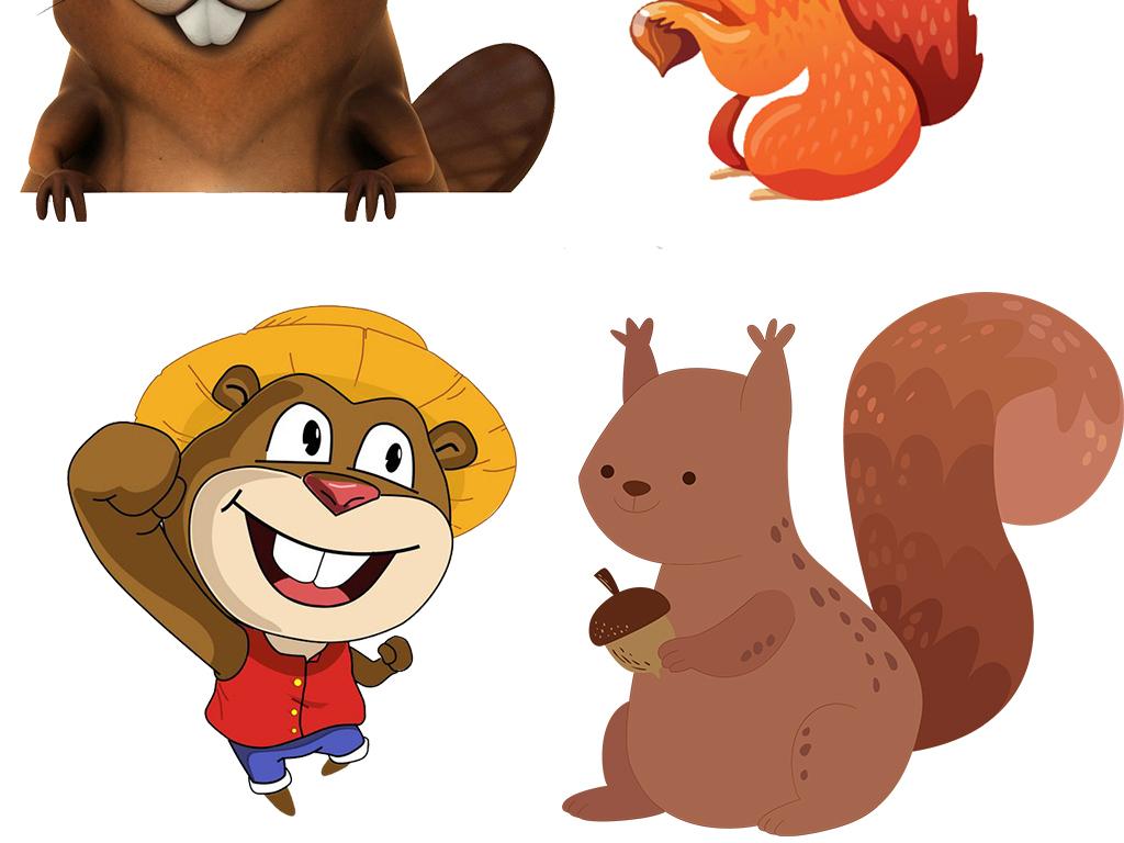 儿童可爱卡通小松鼠png图片