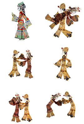 中国传统文化皮影戏png素材
