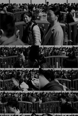 老年代春运火车上的中国夫妇视频素材