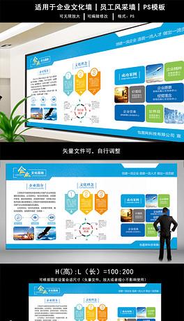 几何科技企业文化墙公司简介荣誉形象墙展板