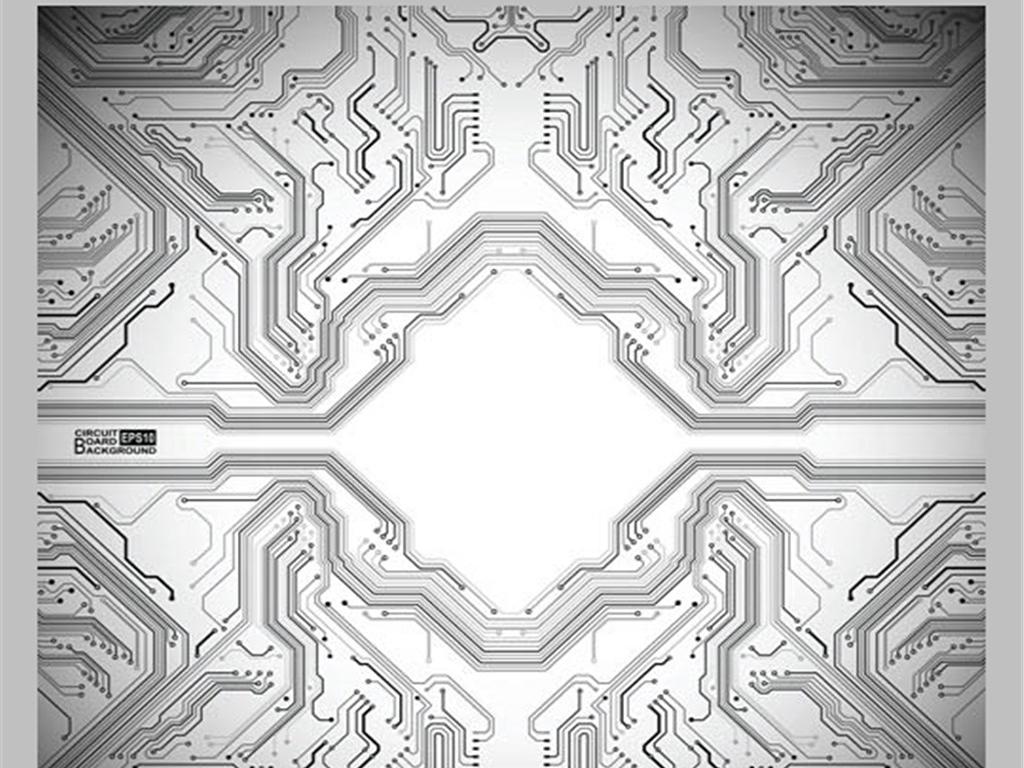 矢量科技芯片背景电路板合集