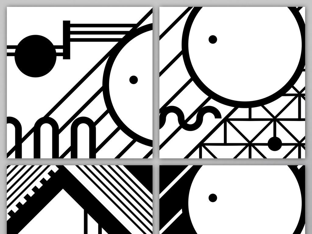 抽象几何罗马风黑白点线面背景图片设计素材_高清jpg