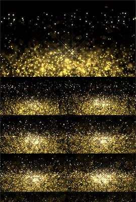 婚庆颁奖金色粒子闪烁动态背景
