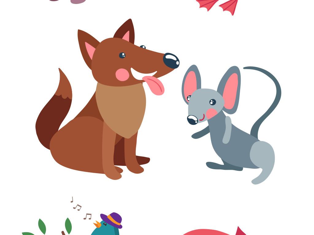 多款卡通手绘小动物矢量元素
