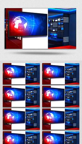 3D新闻演播室特效视频素材