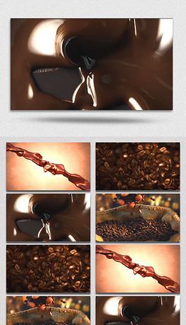 巧克力豆特效视频素材