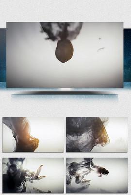 水墨画风景青花瓷中国风背景视频