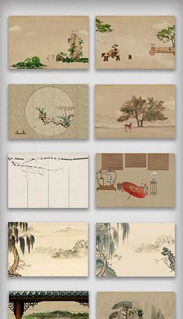 中国风复古海报背景高清素材