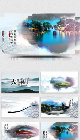 中国风水墨开场ae视频模板