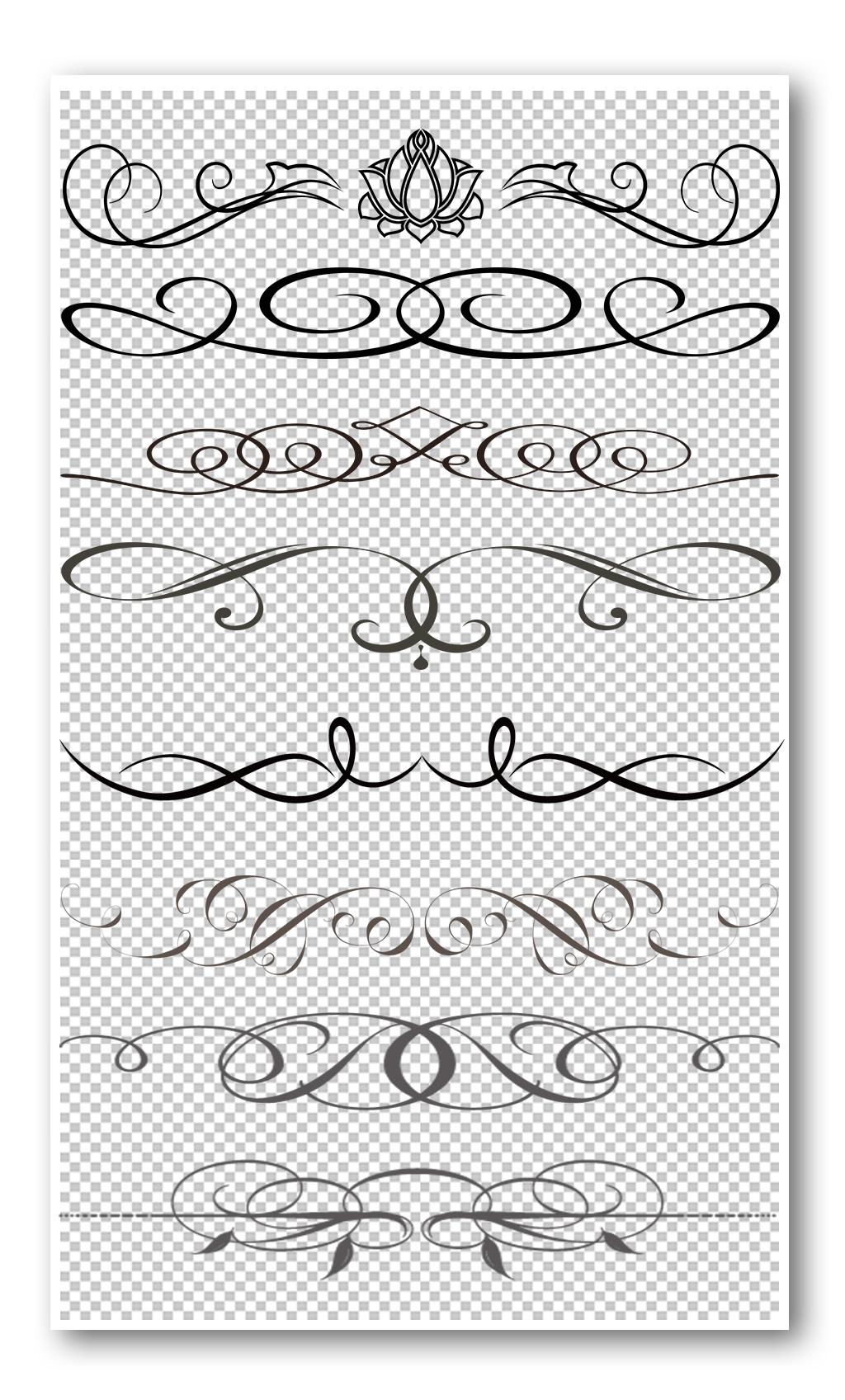 手抄报 小报 小报/板报素材 花边 > 黑色线圈花纹边框元素   图片编号
