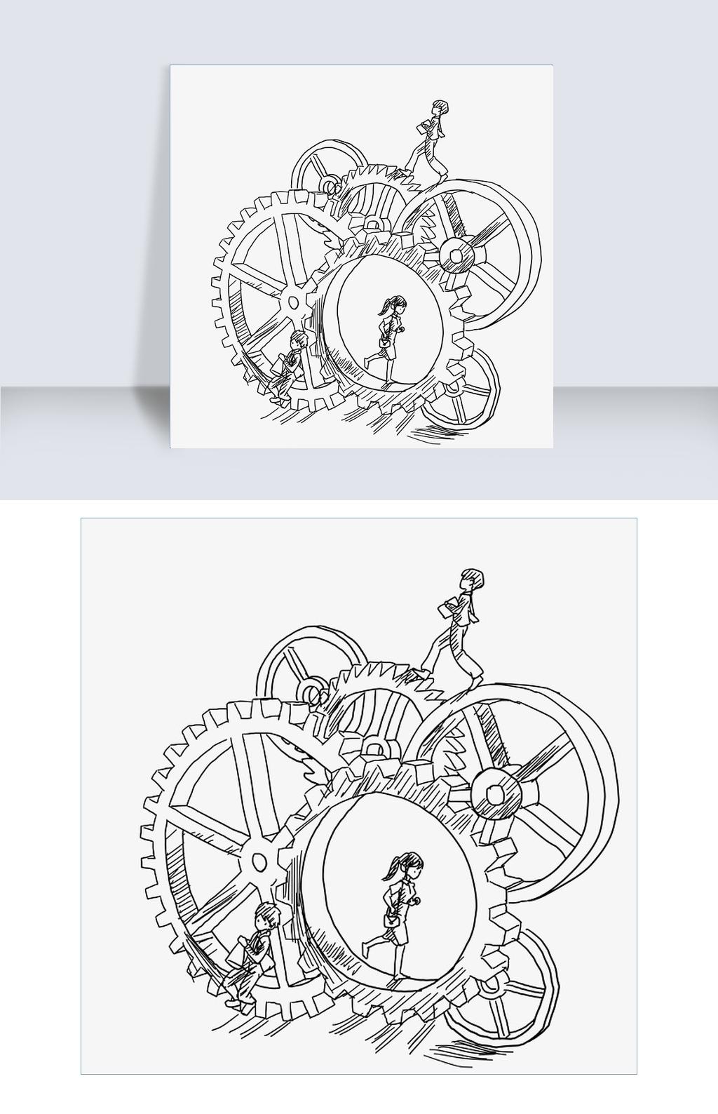 齿轮素材卡通