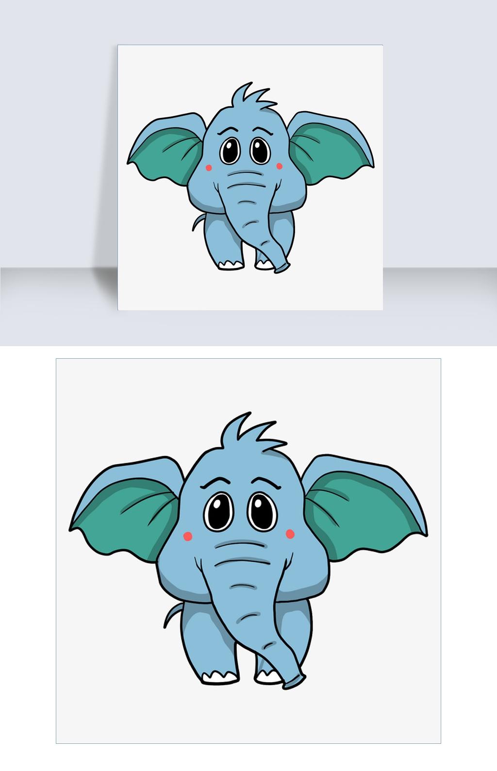 幼儿保护鼻子卡通图片