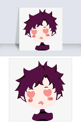 紫色短头发图片_紫色短头发激光_美人短头发紫色尖素材齐刘海图片