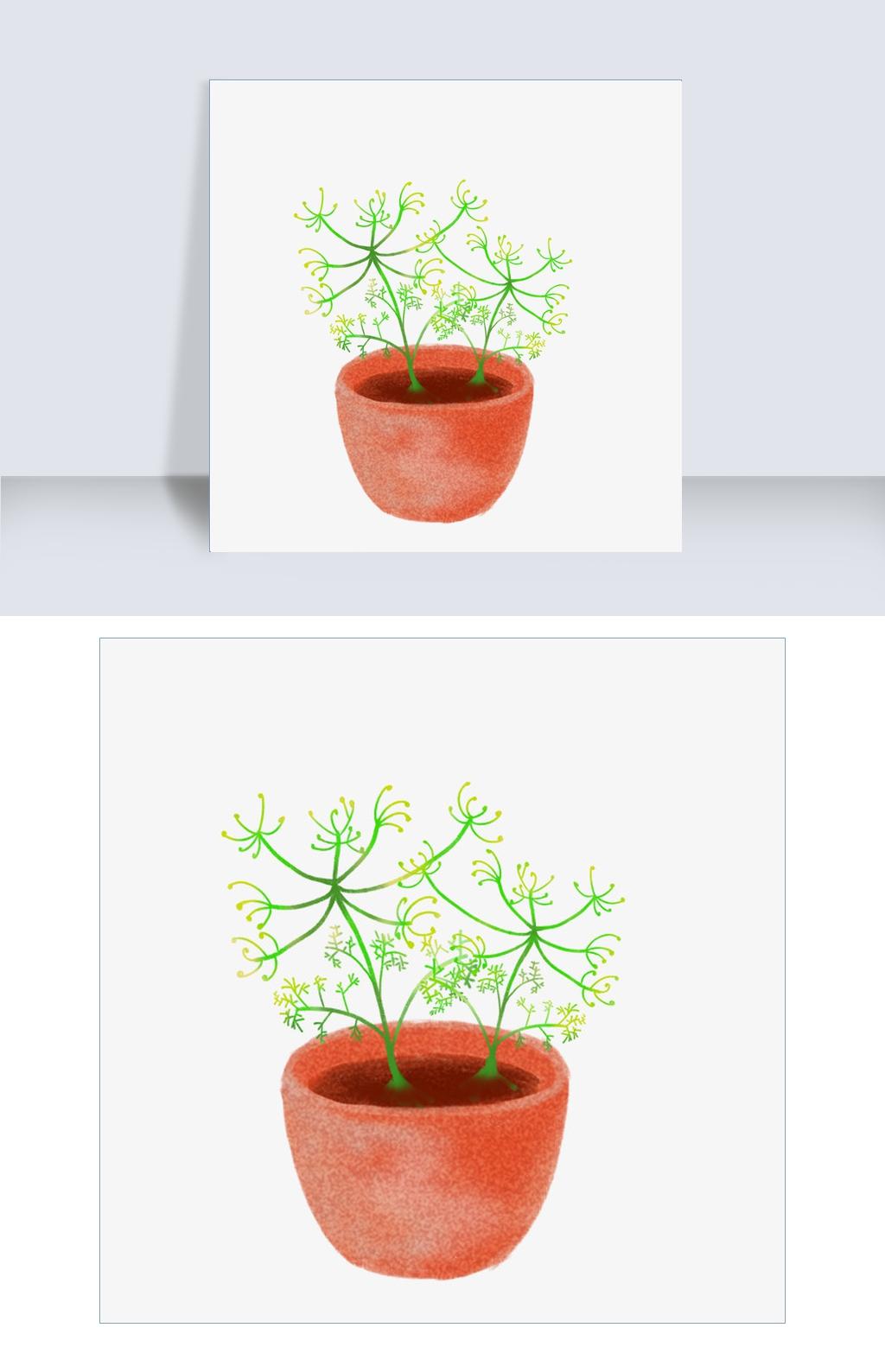 手绘金银花植物插画图片素材 PSB格式 下载 其他大全