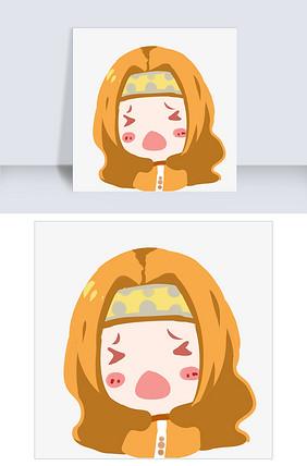 搞笑女孩插画欧耶图片大全可爱比表情帅的图片