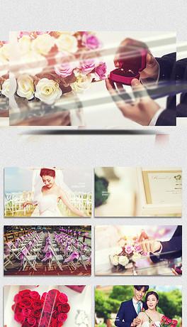 时尚浪漫动态粒子虚胶效果婚礼视频