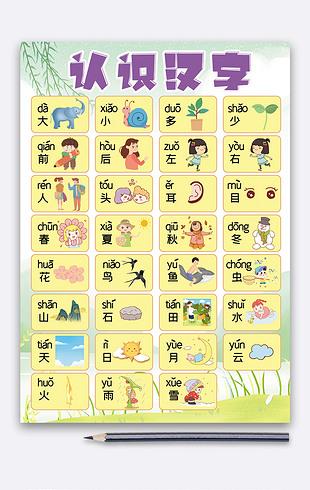 卡通儿童早教挂图识字拼读训练挂图