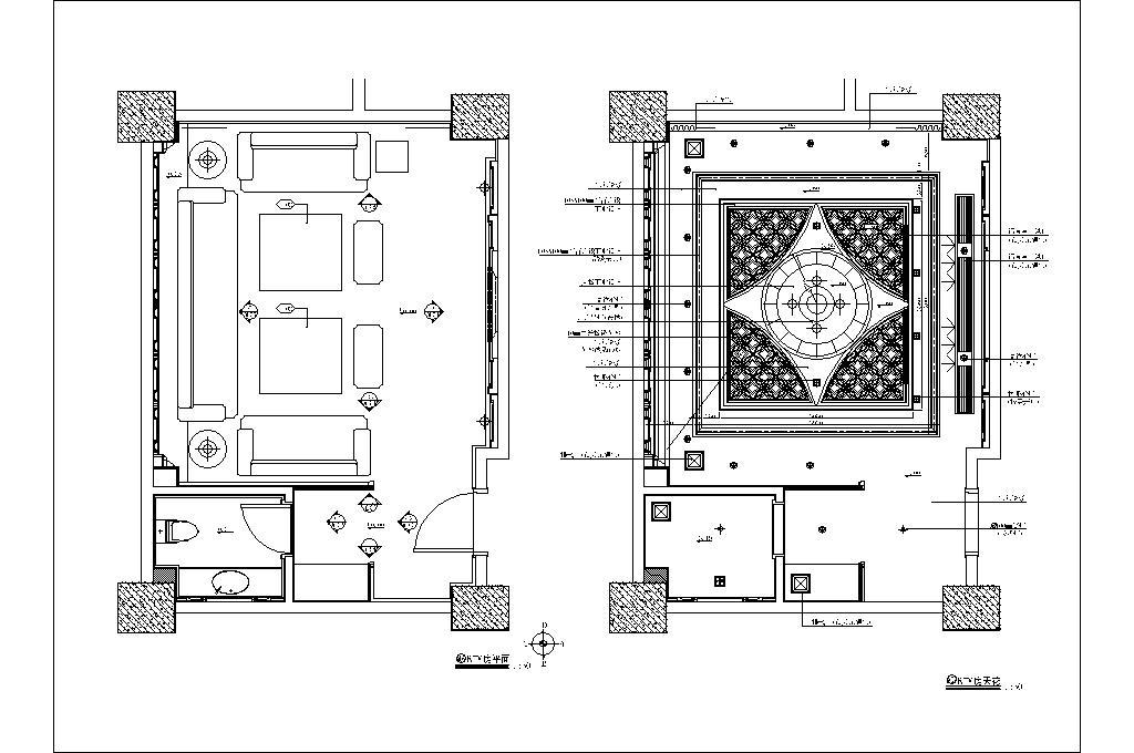 奢华风ktv室内设计平面图