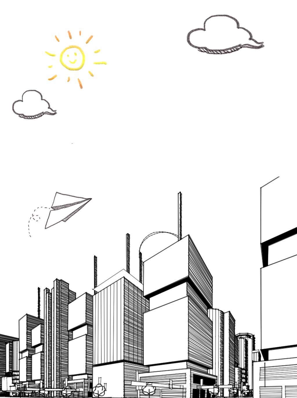简笔画城市图片素材 其他格式 下载 其他海报设计大全
