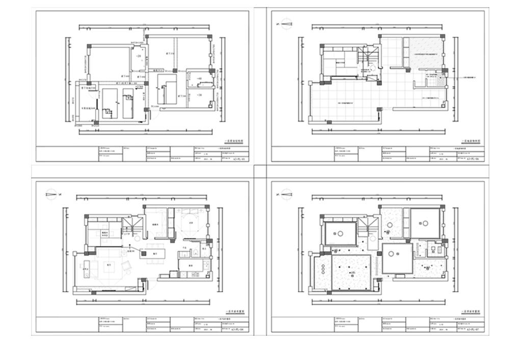 小高层三室两厅CADv高层图纸cad不显示打印图片