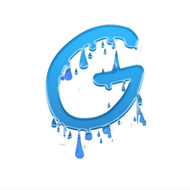 蓝色水滴滑落大写字母G艺术字千库原创图片素材 其他格式 下载 其他大全