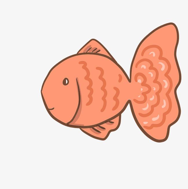 手绘卡通小金鱼插画图片素材 其他格式 下载 动漫人物大全