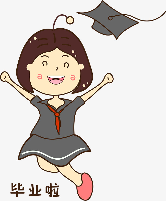 开心学生唯美手绘