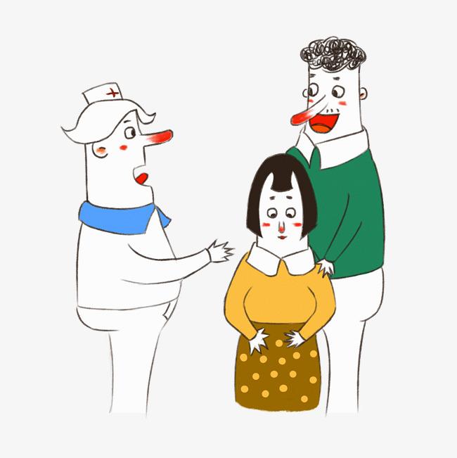 儿童绘本插画手绘医疗教育体检医生患者交谈图片素材 其他格式 下载