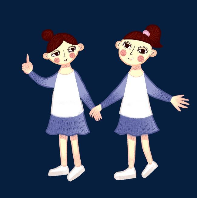 设计元素 人物形象 动漫人物 > 手绘矢量卡通可爱穿校服的学生女生