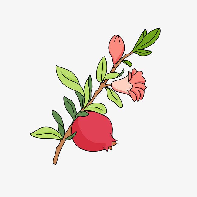 手绘粉色花卡通插画图片素材(其他格式)下载_动漫人物