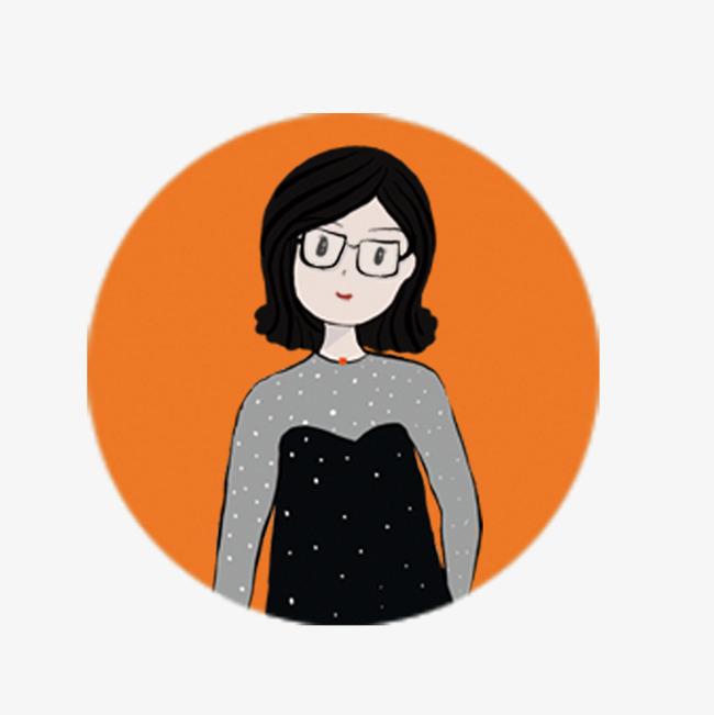 可爱女生头像手绘图片素材(其他格式)下载_动漫人物
