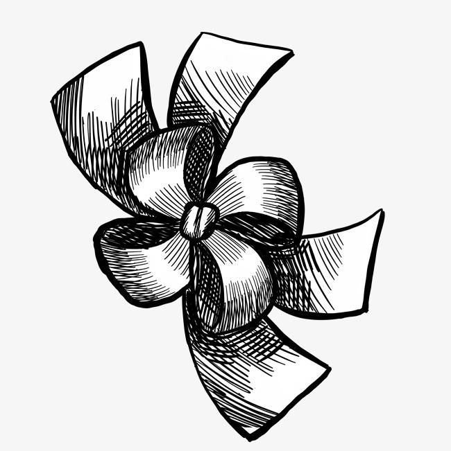 原创设计漂亮花型结黑白线图