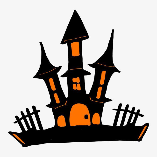 万圣节鬼屋城堡插画图片素材 其他格式 下载 动漫人物大全